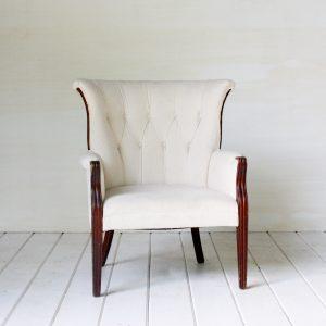 White Armchair Wedding Rental