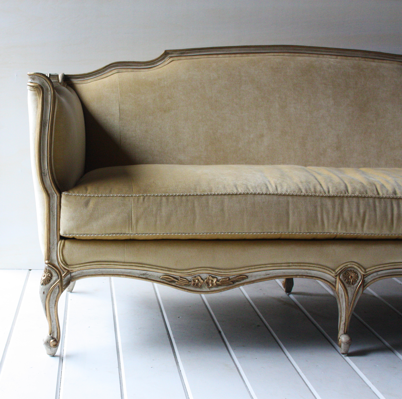 Gold Velvet Settee Klw Design