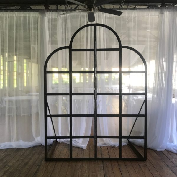 wrought iron backdrop