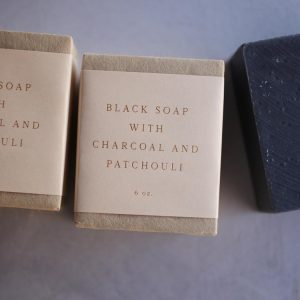 Black Soap with Charcoal and Patchouli