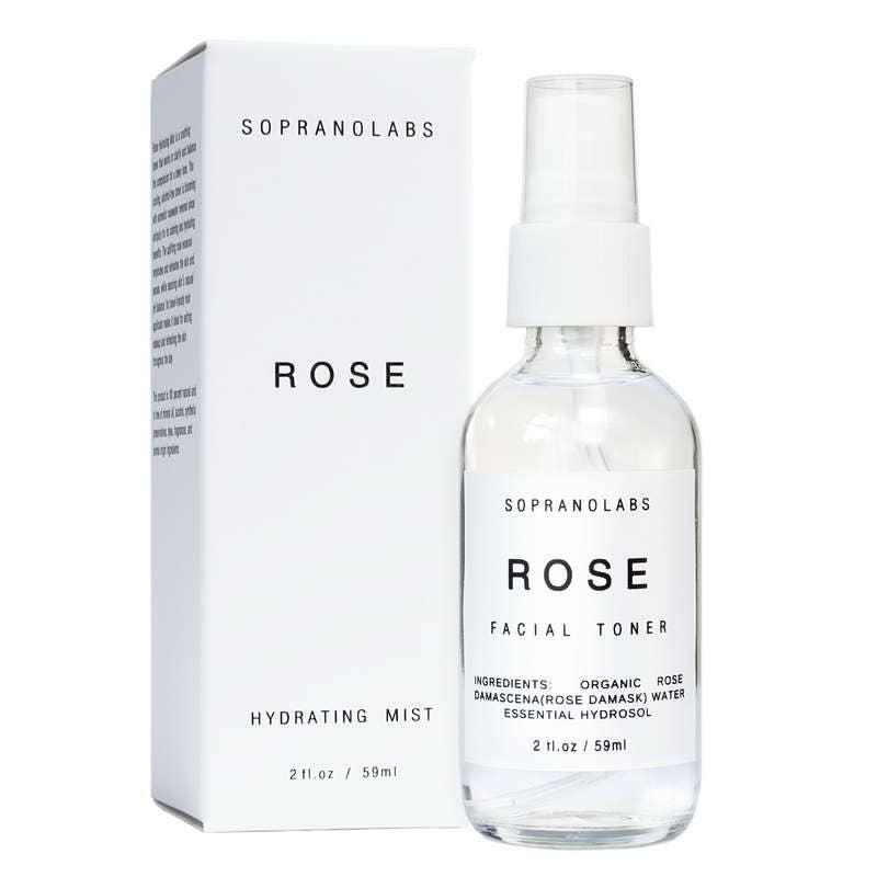 Rose Hydrating Mist. Organic Face Toner