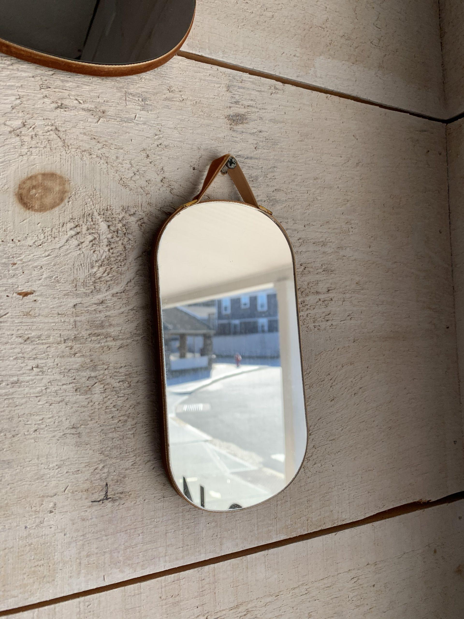 mini mirror gold velvet